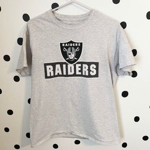 🔥30%OFF🔥EUC raiders number shirt grey/black m